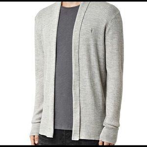 ALLSAINTS Mens Merino Wool Open Cardigan Sweater-L